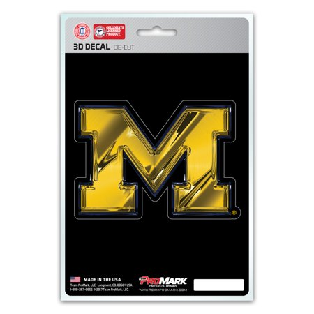 Michigan Wolverines Decal 5x8 Die Cut 3D Logo Design - Dice 3d