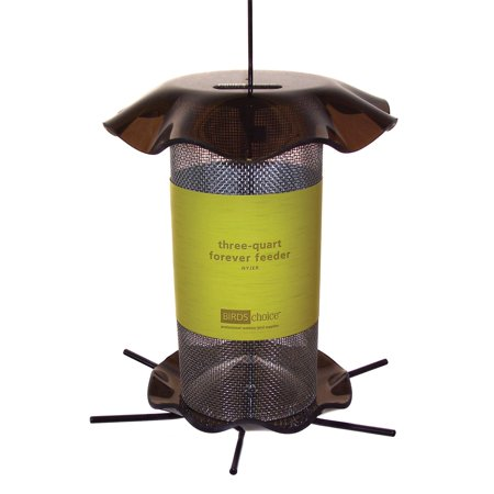 Birds Choice Forever Nyjer Feeder with Hanging Cable and 6 (Nozzle Cable Feeder)