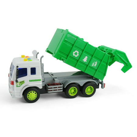 Large 1/16 Garbage Truck Bin Lorry Light & Sound Rubbish Recycling Trash Car - image 5 of 5