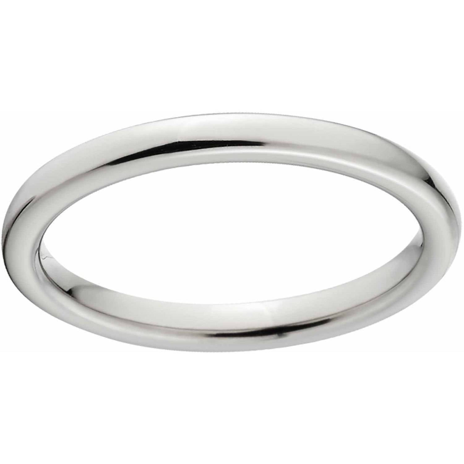 Men s 7mm Titanium Flat Wedding Band Walmart