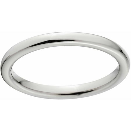 - Polished 2mm Titanium Wedding Band with Comfort Fit Design