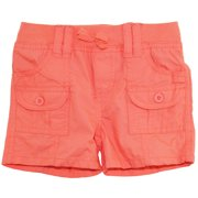 Star Ride Little Girls' Adjustable Cargo Woven Bermuda Board Shorts
