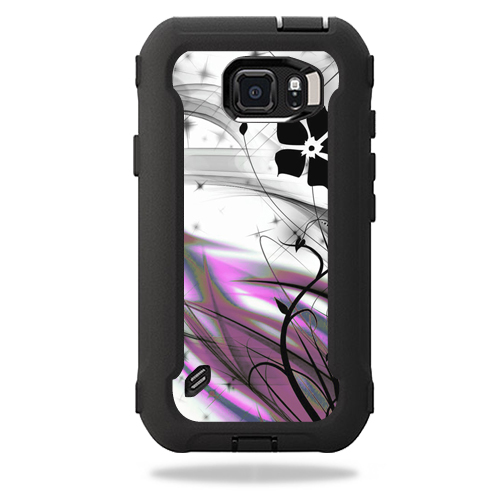 MightySkins Protective Vinyl Skin Decal for OtterBox Defender Galaxy S6 Active Case wrap cover sticker skins Gray World