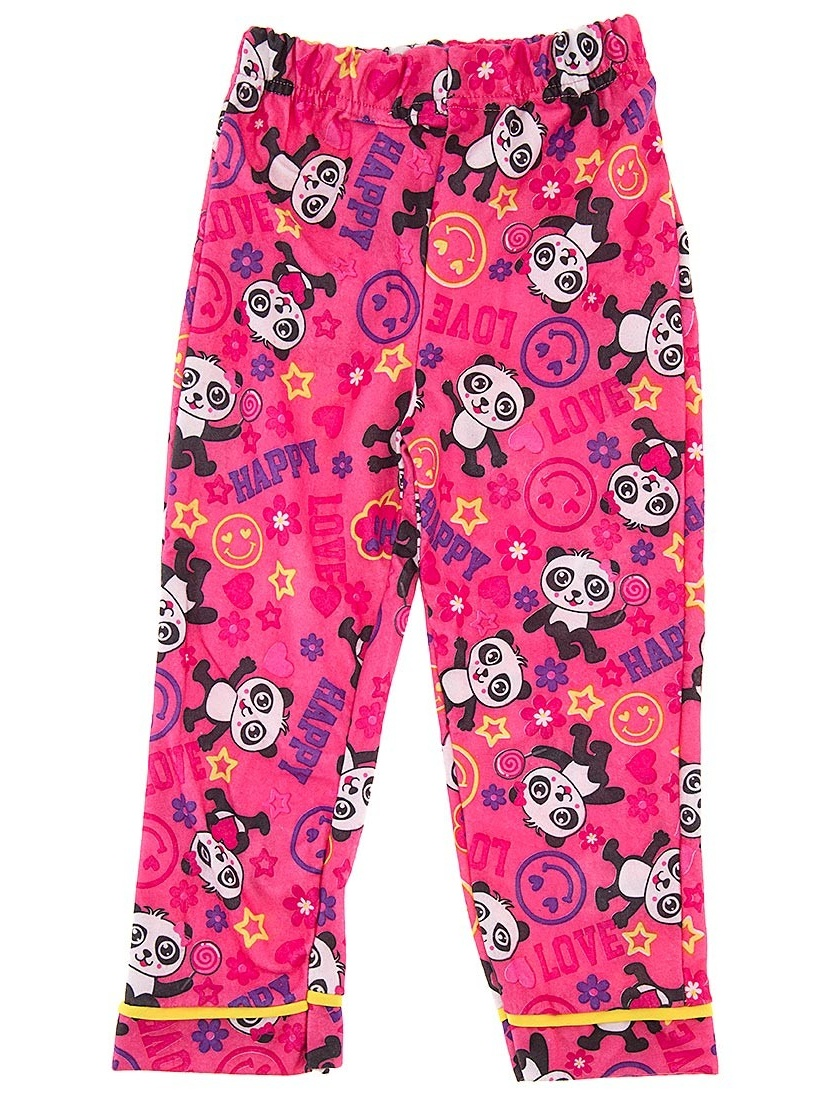 Pink Panda Pajama Pants for Girls