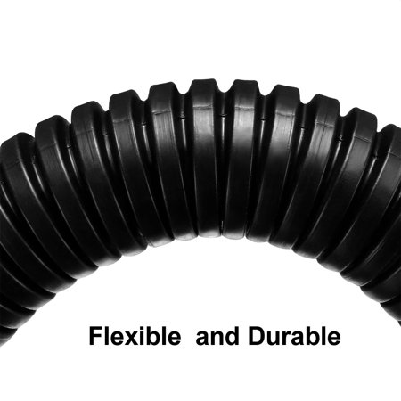 4M 18.5mm Outer Dia Corrugated Bellow Conduit Tube PP Polyethylene Tubing Black - image 3 of 5