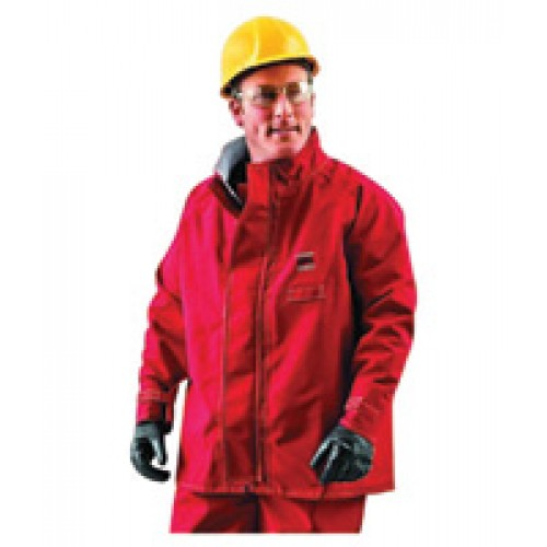 Ansell 2X Red 30'' Sawyer-Tower CPC Polyester Trilaminate Gore Fabric Splash Protection Jacket