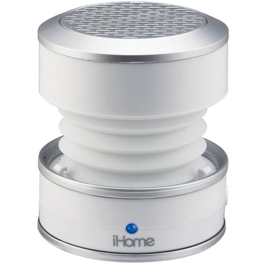 iHome IM59WC Color Change Mini Speaker, White