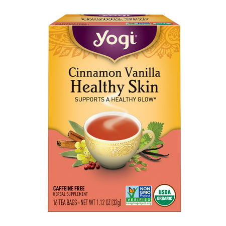 (6 Boxes) Yogi Tea, Cinnamon Vanilla Healthy Skin Tea, Tea Bags, 16 Ct, 1.12