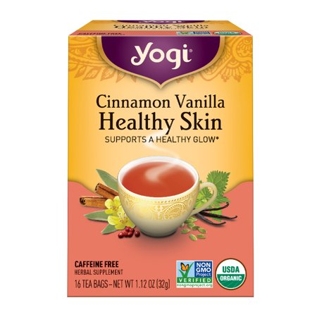 (6 Boxes) Yogi Tea, Cinnamon Vanilla Healthy Skin Tea, Tea Bags, 16 Ct, 1.12 OZ