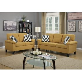Enjoyable Stansall 2 Pcs Grey Linen Like Sofa Couch And Loveseat Theyellowbook Wood Chair Design Ideas Theyellowbookinfo