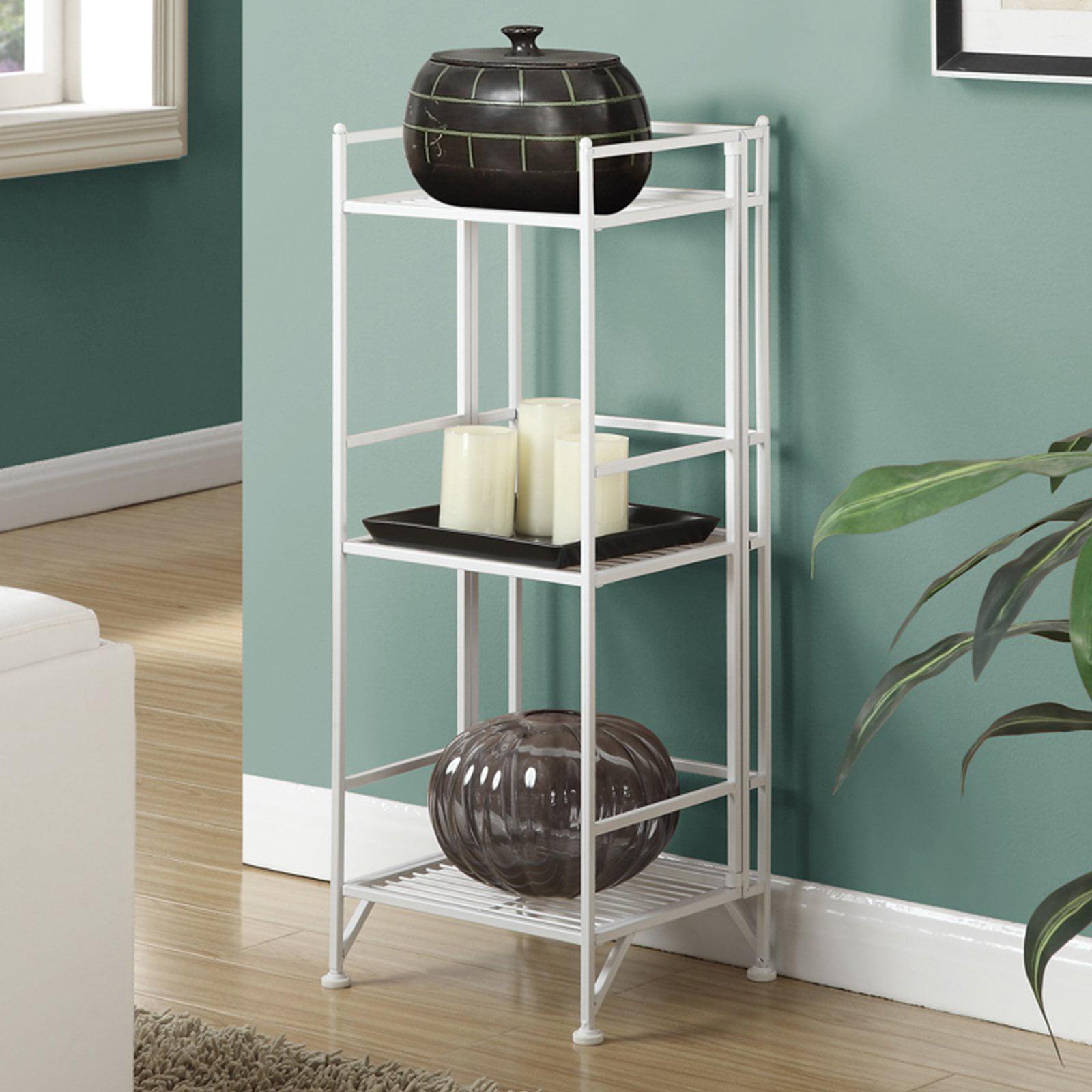 Convenience Concepts Designs2Go Metal Folding 3 Shelf Bookcase ...