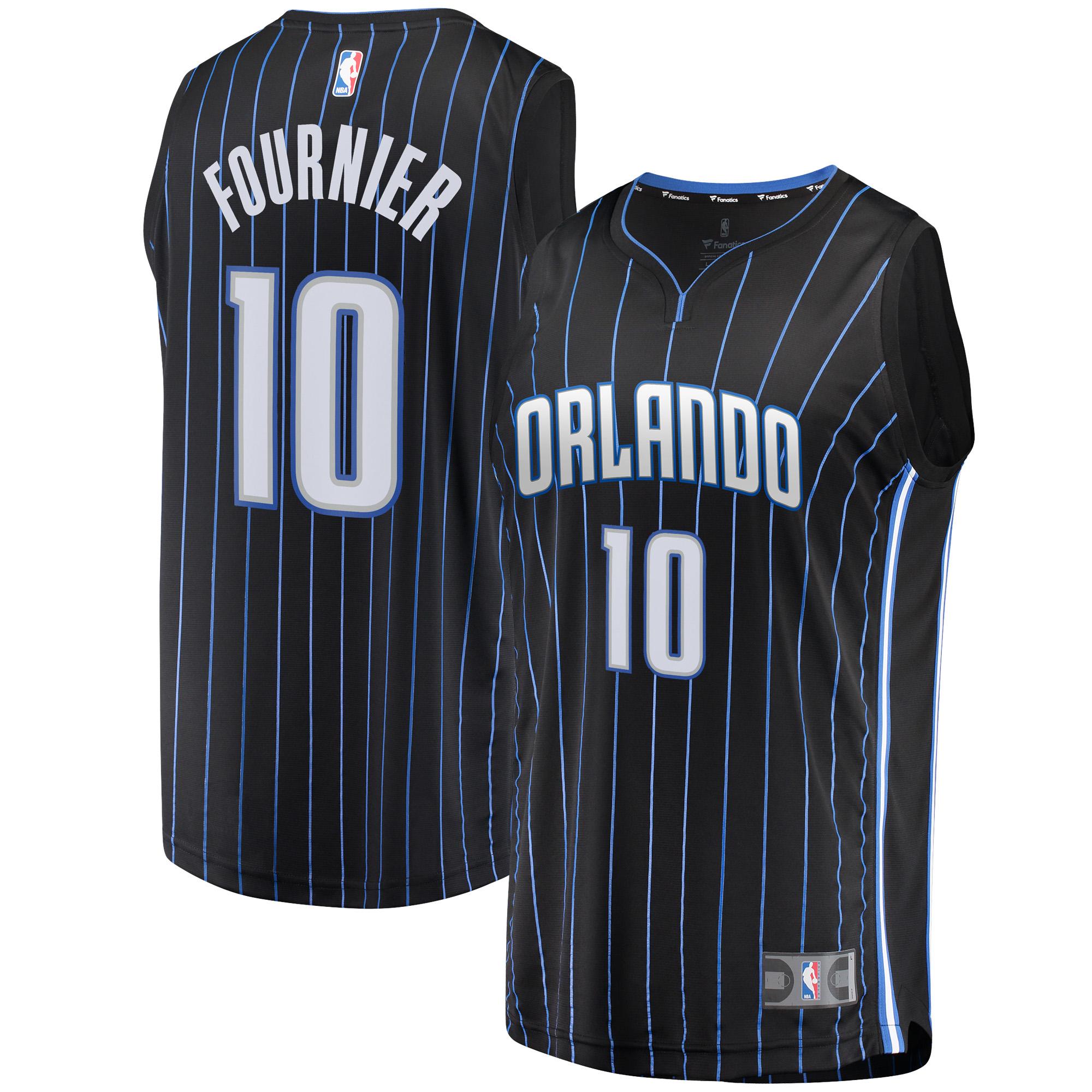 Evan Fournier Orlando Magic Fanatics Branded Fast Break Replica Jersey Black - Statement Edition
