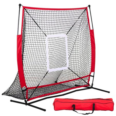 Yaheetech 5 x 5 FT Baseball & Softball Hitting and Pitching Practice Net
