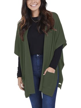 396adf2abbf Product Image Women s Brushed Fleece Blanket Cape Cardigan
