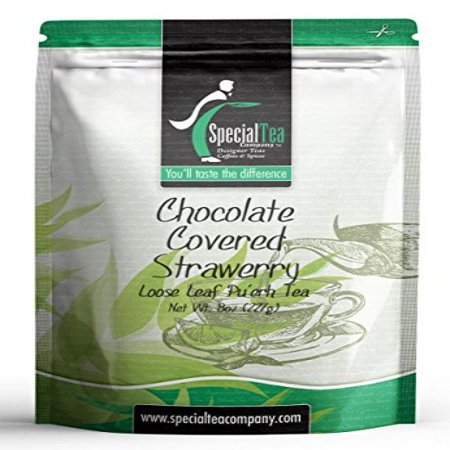 Special Tea Loose Puerh Tea  Chocolate Covered Strawberry 8 Ounce