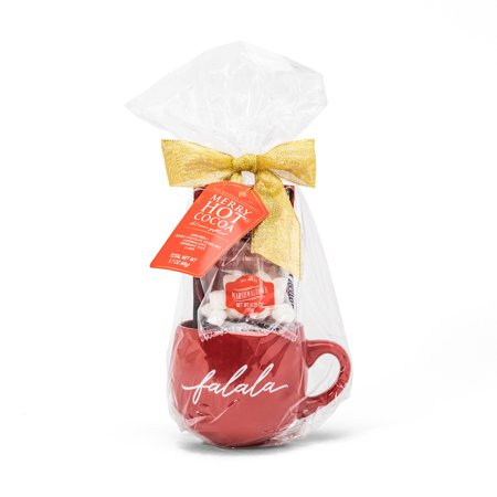 Thoughtfully Ghirardelli Peppermint Chocolate Holiday Cocoa Gift Set | Contains Ceramic Mug, Peppermint Hot Chocolate Mix, Peppermint Candy Cane and Mini Marshmallows