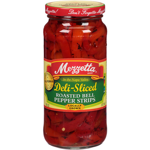 Mezzetta Deli-Sliced Roasted Bell Pepper Strips, 16 fl oz (Pack of 6)