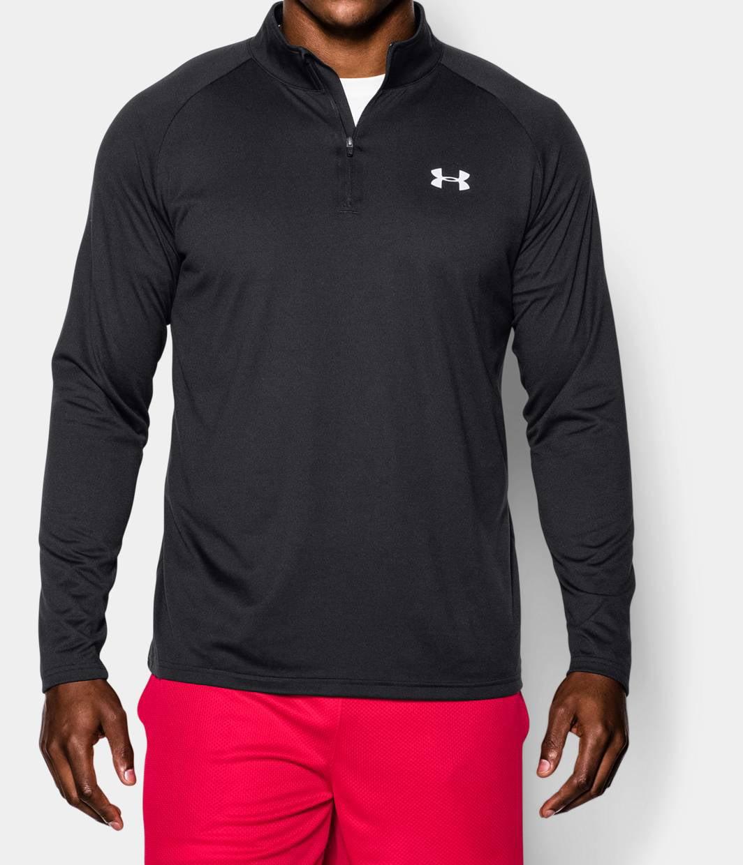 Under Armour Men/'s UA Tech 1//4 Zip Shirt 1242220-003 Black