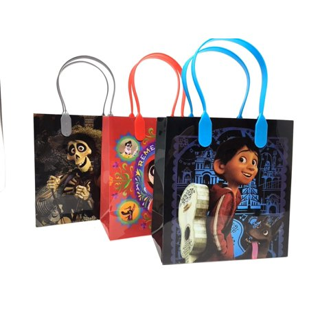 1st Birthday Party Loot Bags - 12PCS Disney Pixar Coco Party Favor Goodie Gift Birthday Loot Bags Authentic Licensed
