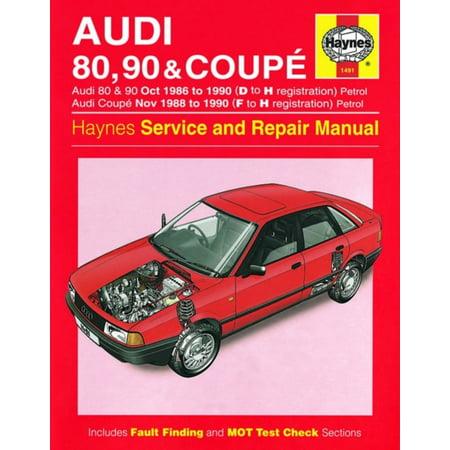 Audi 80, 90 & Coupe Petrol (Oct 86 - 90) Haynes Repair Manual (Haynes Service and Repair Manuals) - Panasonic Service Manuals