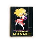 Artehouse LLC Cognac Monnet Planked by Leonetto Cappiello Vintage Advertisement Plaque