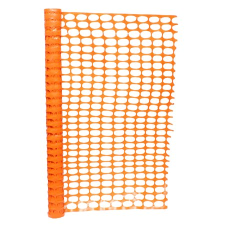 BISupply | 4 FT Safety Fence – Plastic Fencing Roll, Temporary Fencing - Orange Fence Roll