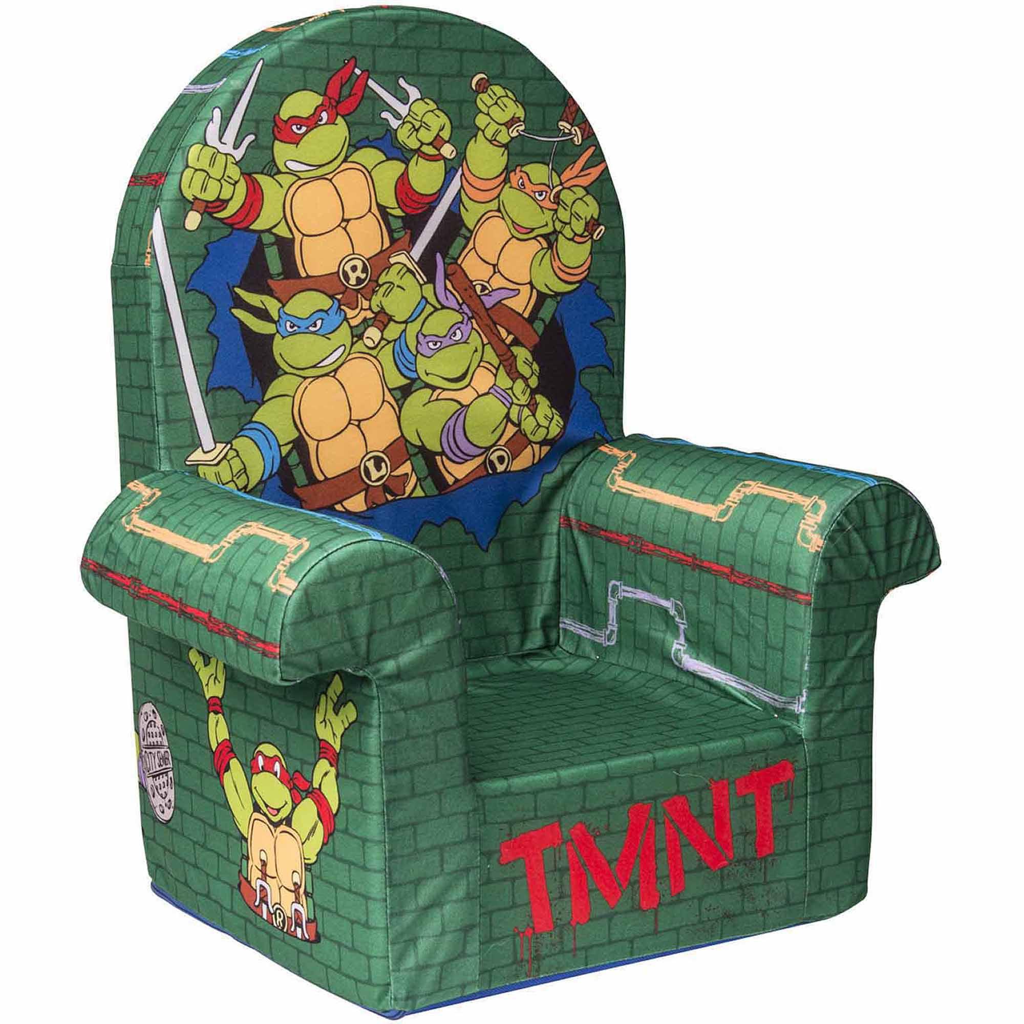 Marshmallow Furniture High Back Chair, Nickelodeonu0027s Teenage Mutant Ninja  Turtles, Retro   Walmart.com