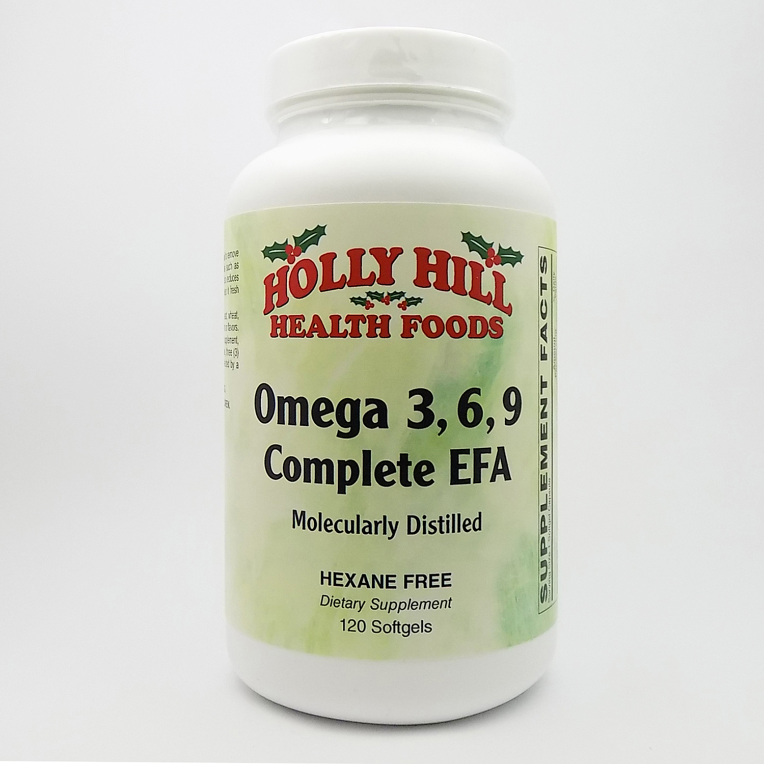 Holly Hill Health Foods, Omega 3-6-9, Hexane Free, 120 Softgels