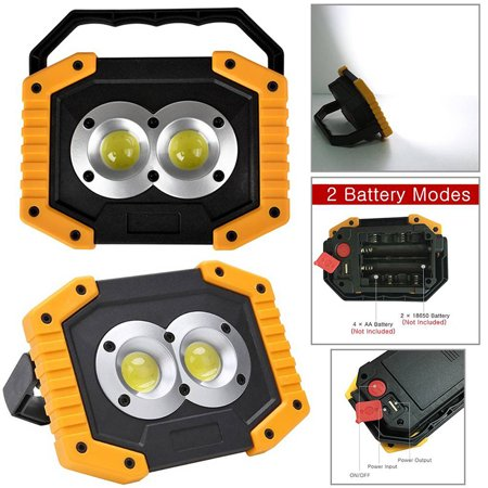 20w Led Outdoor Spotlights Emergency Waterproof Maintenance Rechargeable Work Usb Cob Portable Light Searchlight Vehicle Camping Lamp jLqUSzMVpG