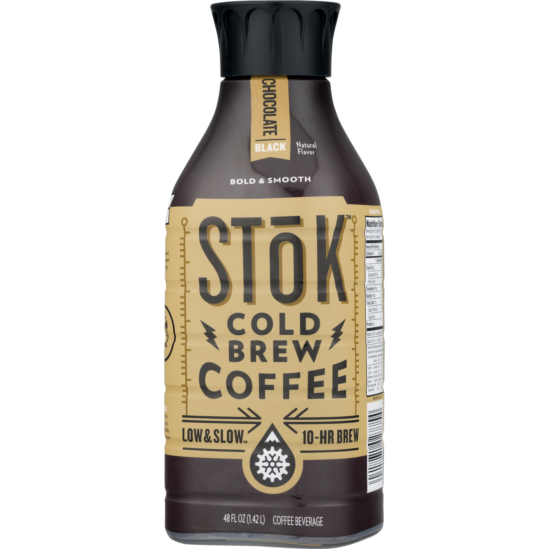 Stok Cold Brew Chocolate Black Coffee, 48 Fl. Oz