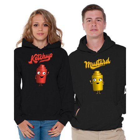 Awkward Styles Matching Couple Hoodies Valentine's Day Collection Matching Hoodie Sweaters His and Hers Gifts Funny Ketchup Mustard Couples Hoodie Valentines Cute Matching Outfits for Couples](His And Hers Outfits)