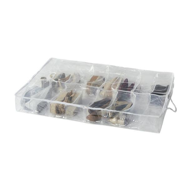 16 Pocket Clear Underbed Shoe Organizer