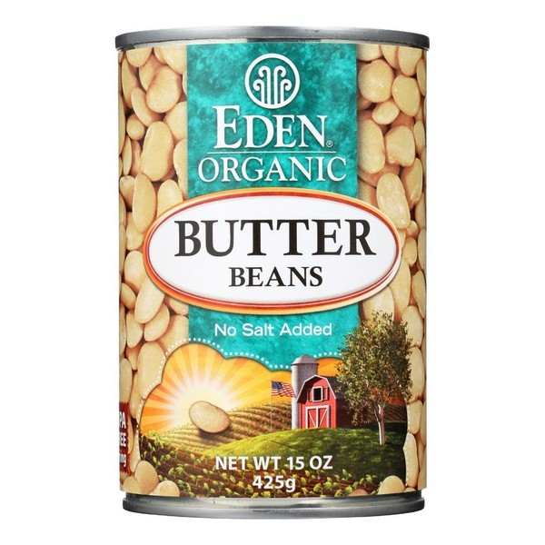 Eden Foods Butter Beans Organic - pack of 12 - 15 Oz.