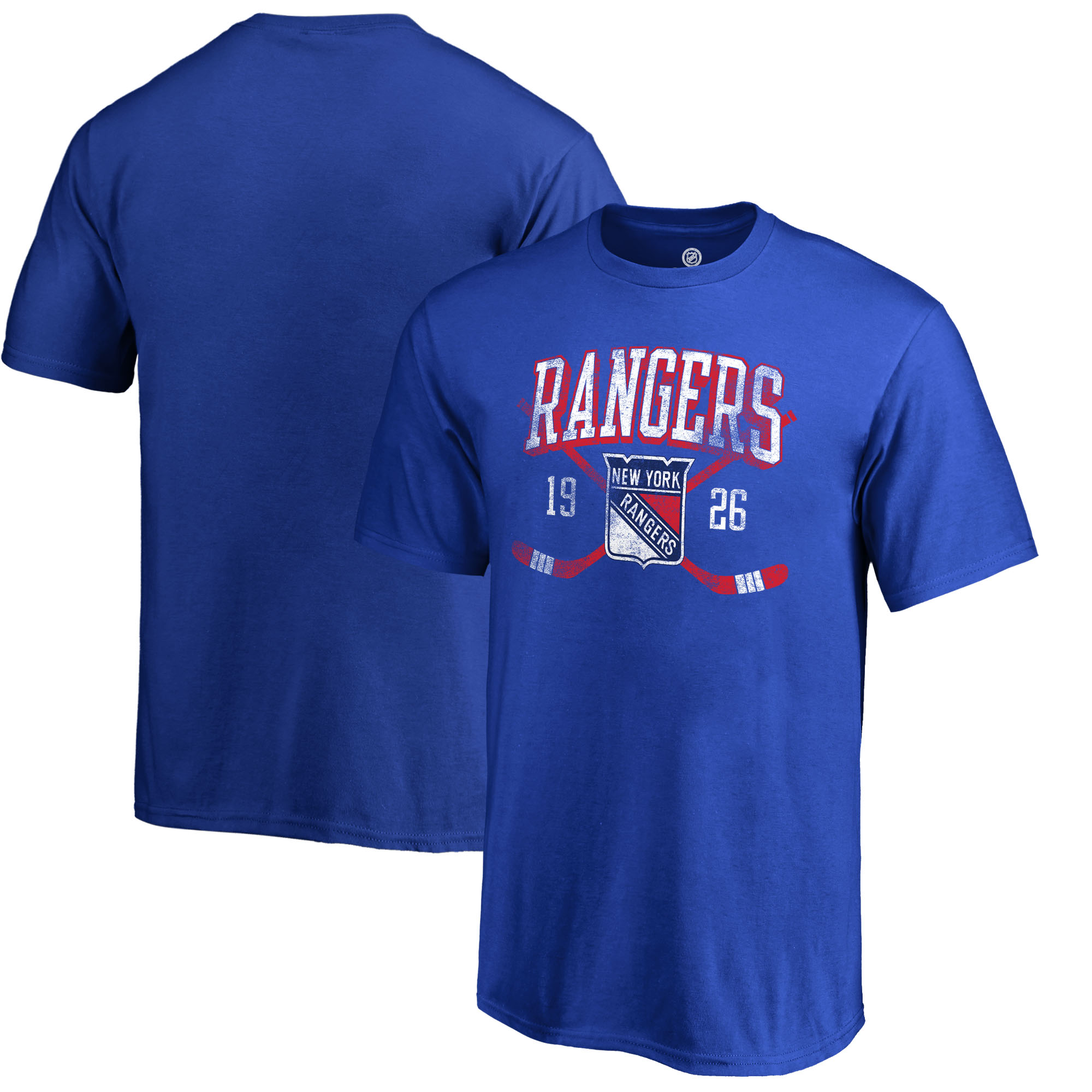New York Rangers Fanatics Branded Youth Vintage Collection Line Shift T-Shirt - Royal