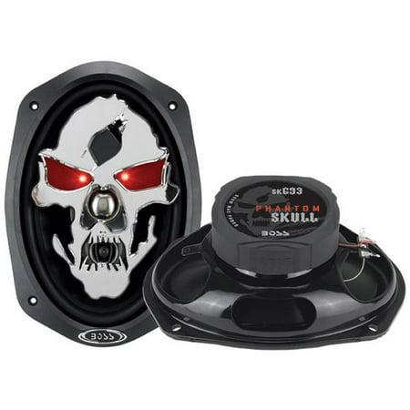 Boss Audio Audio Sk693   Phantom Skull 600 Watt 6   X 9   3 Way  Car Speakers  Pair Of Speakers