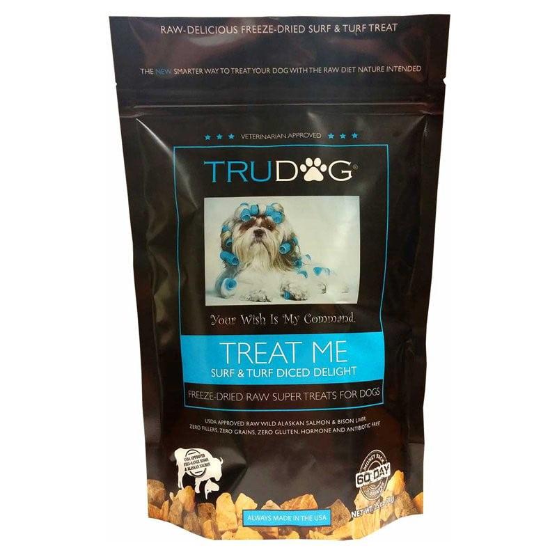 TruDog Treat Me Grain-Free Surf & Turf Diced Delight Freeze Dried Dog Treat, 2.5 oz by TRUPET