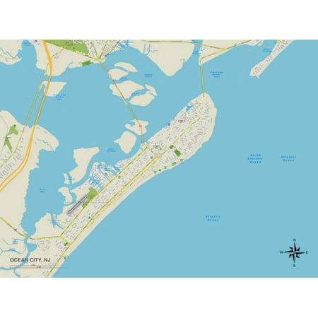 Party City West Orange Nj (Political Map of Ocean City, NJ Print Wall)