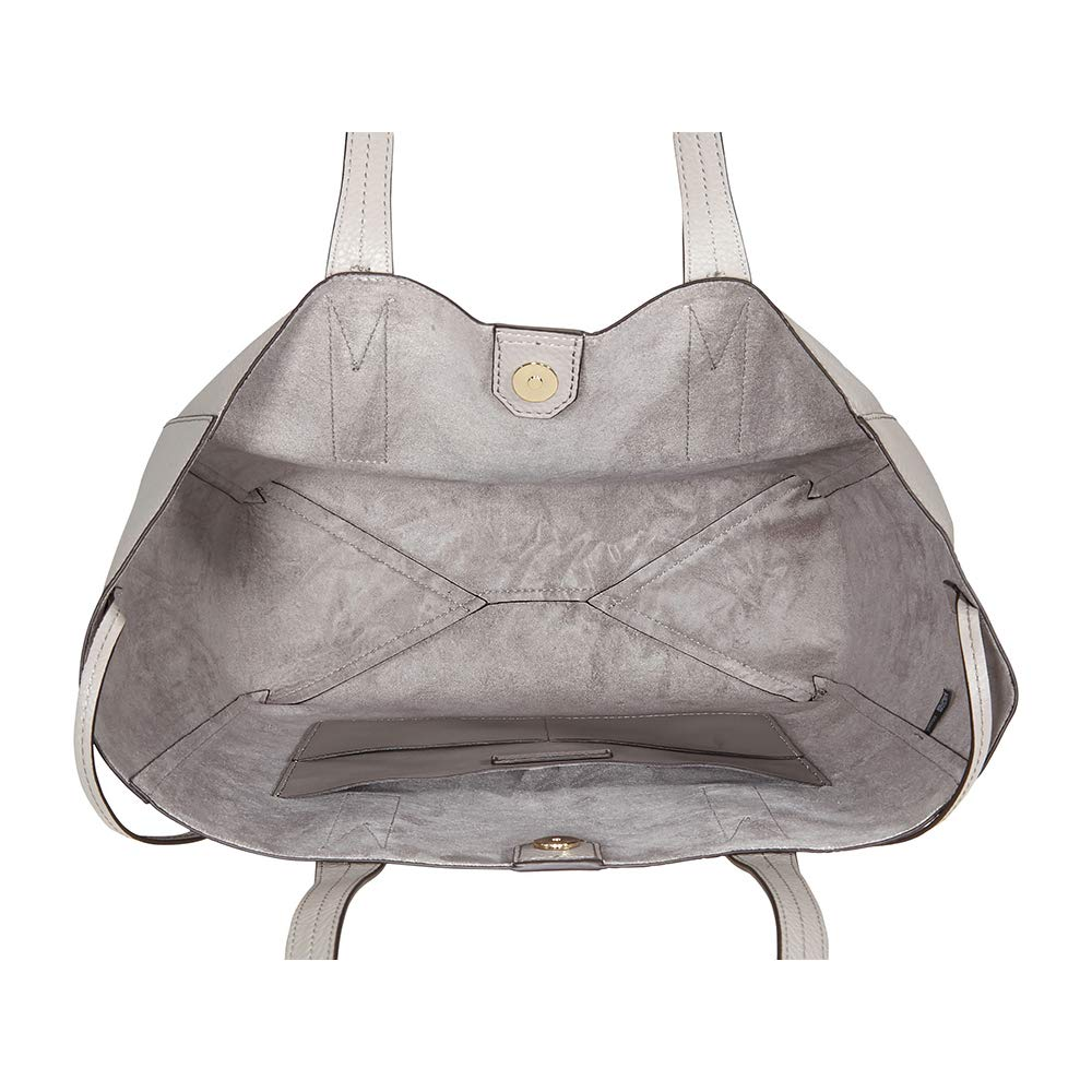 ff19a07ceedd Michael Kors - Michael Kors Junie Large Pebbled Leather Tote- Pearl Grey -  Walmart.com