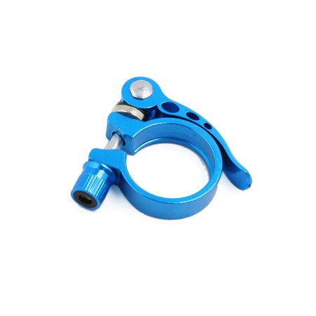 34.9mm Aluminum Alloy Quick Release Style Bike  Post Clamp Screw Bolt Lever