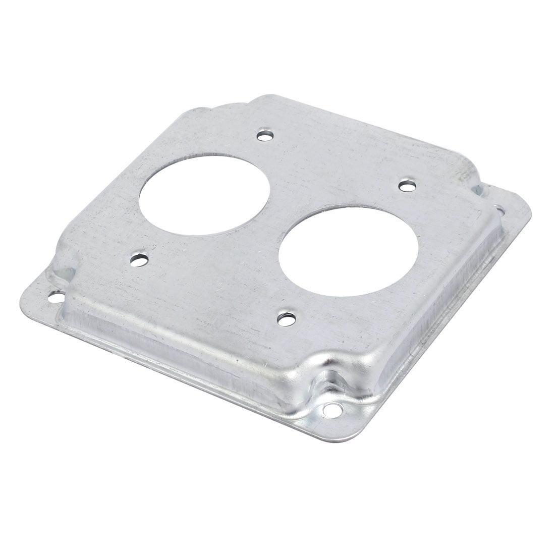 Unique Bargains Zinc Plated 1-Gang Duplex Round Hole Toggle Switch ...