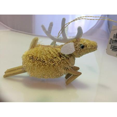 Martha Stewart Hand Made Buri Reindeer Ornament ()