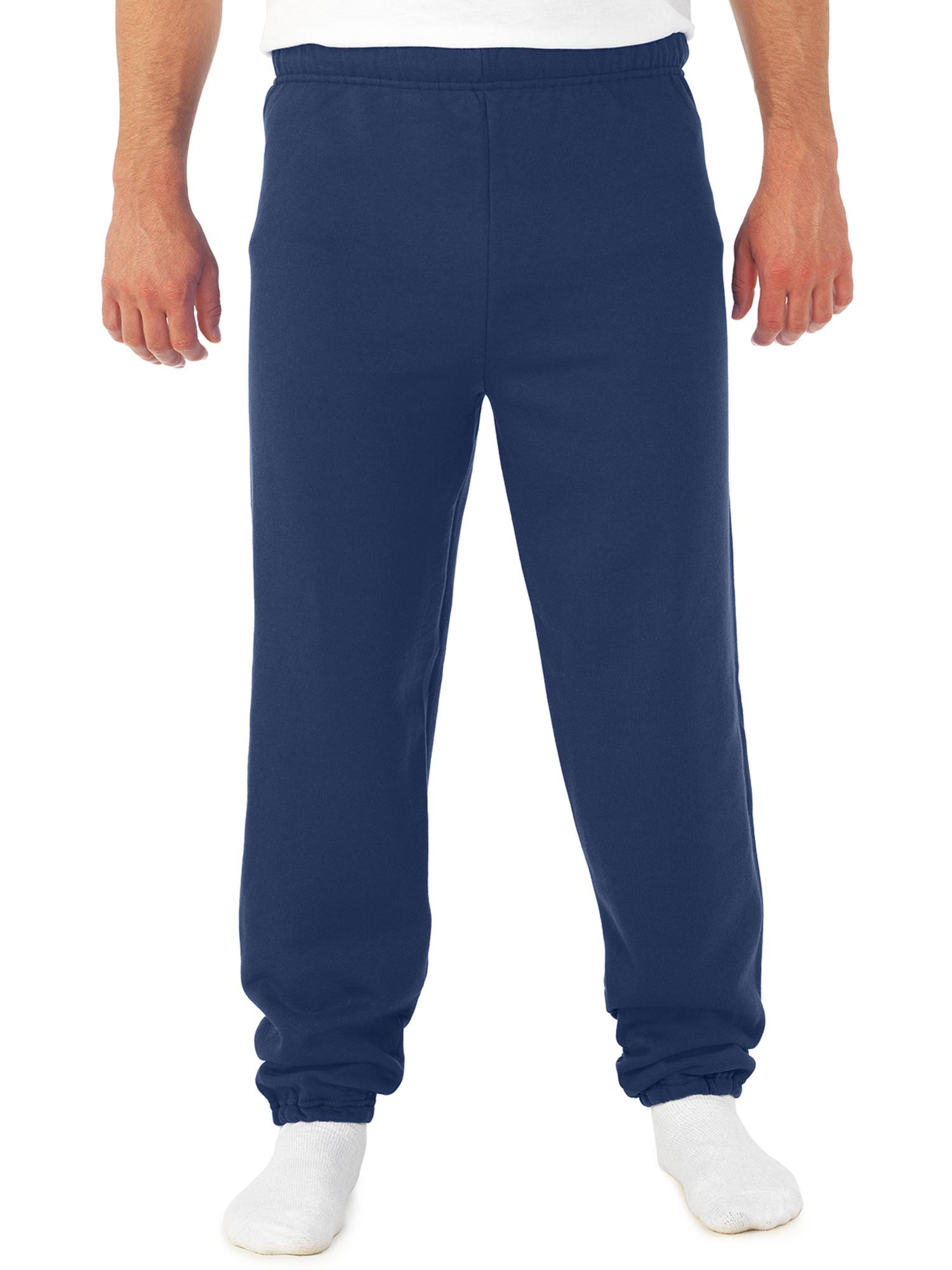 Big Men's Soft Medium-Weight Fleece Elastic Bottom Sweatpants