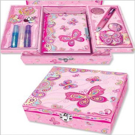691197cb3950 Pecoware Fancy Butterfly Create Your Own Secret Diary Set