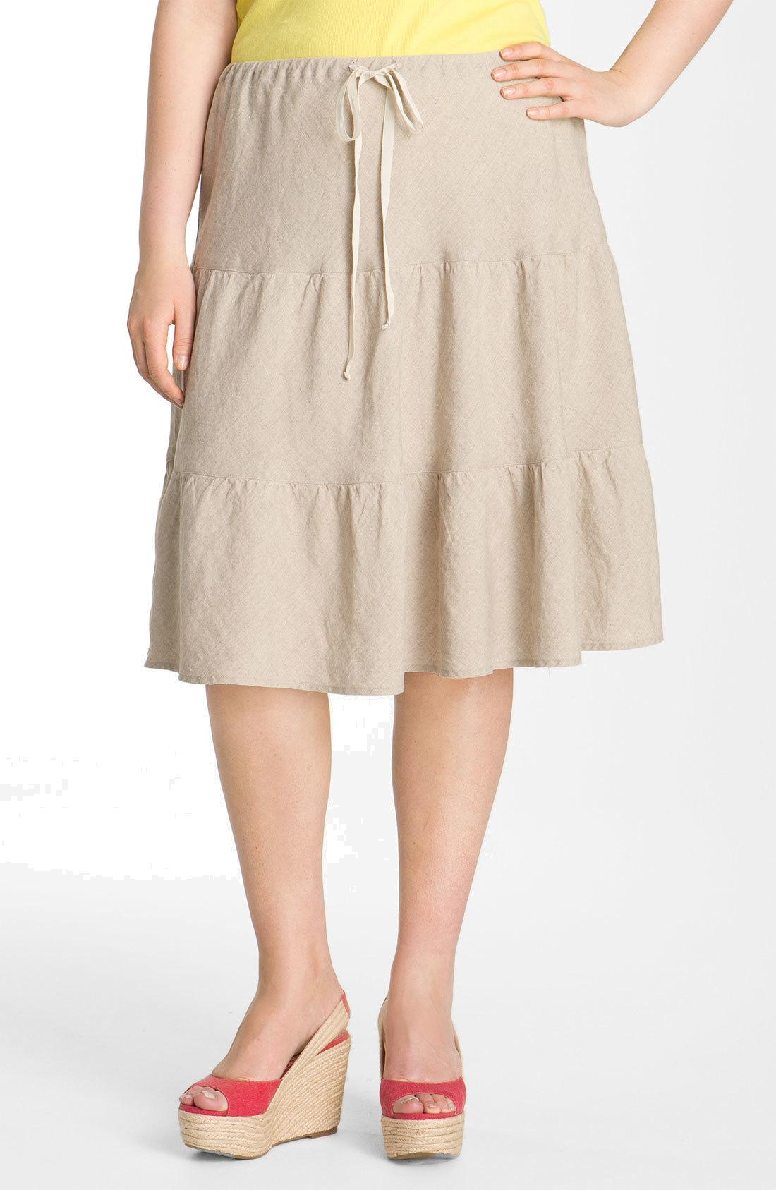 Skirt Women/'s 38 Linen Skirt Brown Skirt Women/'s Skirt