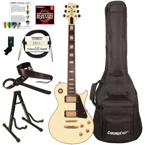 Sawtooth Heritage Series Maple Top Electric Guitar with ChromaCast Gig Bag and Accessories