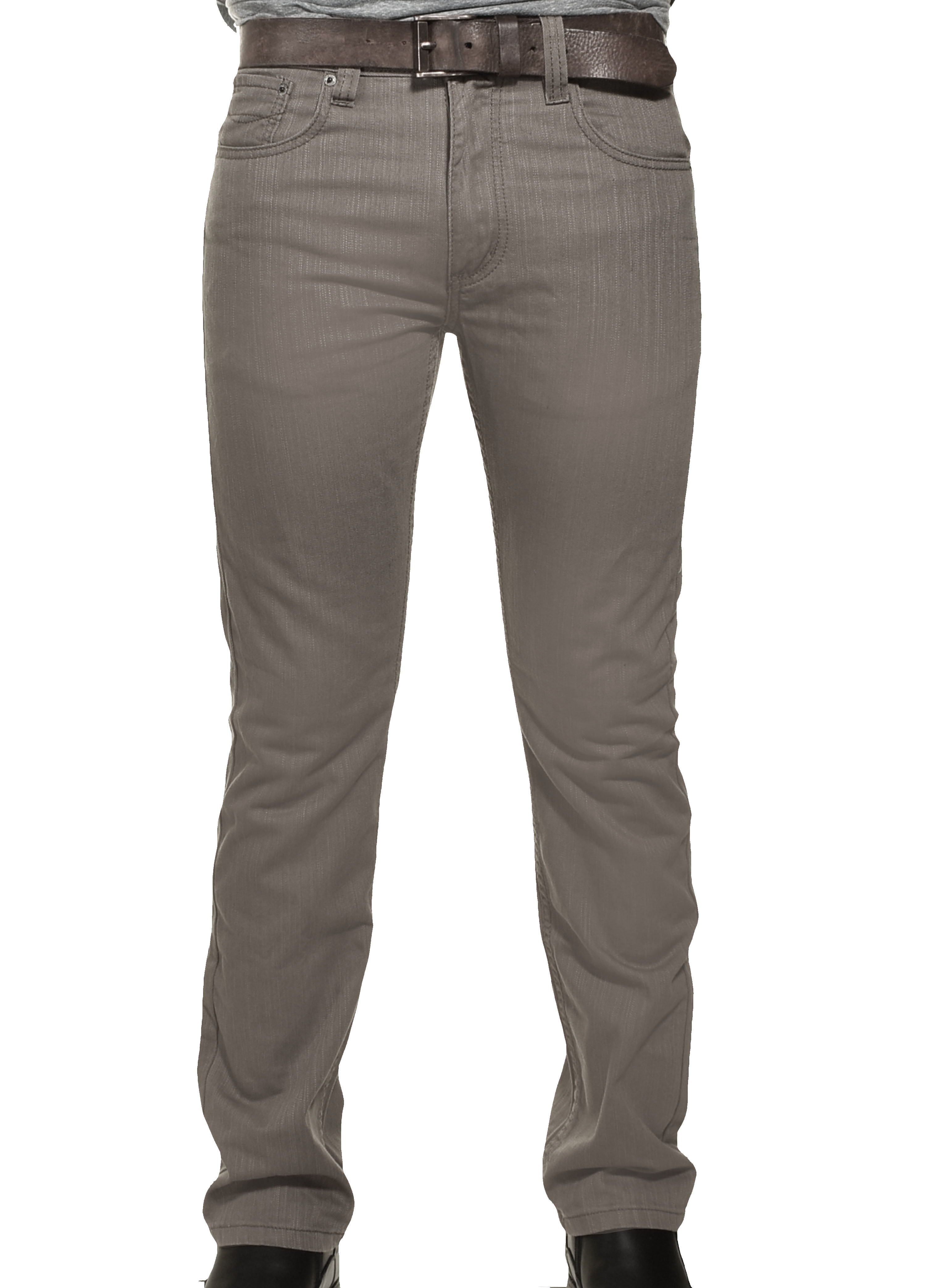 Victorious Mens DL991 Slim Fit Premium Jeans (Gray, 28X30)