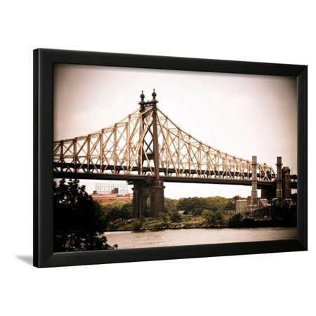 Ed Koch Queensboro Bridge (Queensbridge), Long Island City, New York, Vintage, White Frame Framed Print Wall Art By Philippe - Party City Long Island City