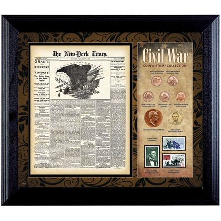 American Coin Treasures New York Times Civil War Framed Memorabilia