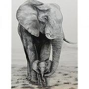 Elephant Love by Ed Capeau 18x12 Art Print Poster Wall Decor Safari Painting Animals Wildlife