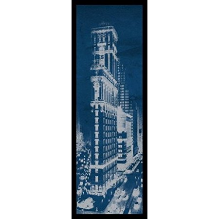 Framed times square postcard blueprint panel 36x12 art print poster framed times square postcard blueprint panel 36x12 art print poster architectural new york city vintage manhattan malvernweather
